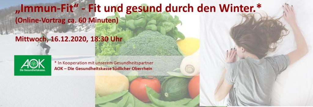 Plakat Vortrag Immun-Fit